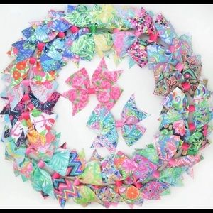 "30 3.5"" Lilly Pulitzer Grosgrain Ribbon Bows"